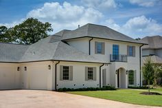 Traditional home in College Station Texas. Note we used the exterior paint color Benjamin Moore Ballet White and love it!
