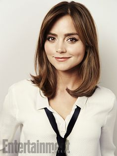"clara-oswald: "" Jenna Coleman in Entertainment Weekly [x] and Empire Magazine [x] for Doctor Who. Medium Short Hair, Short Hair Cuts, Short Hair Styles, Doctor Who, Hairstyles With Bangs, Pretty Hairstyles, Bob Hairstyle, Clara Oswald Hair, Clara Oswald Clothes"