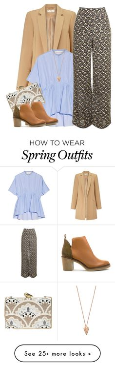 """HIPPIE SPRING"" by ele88na on Polyvore featuring Miss Selfridge, Victoria, Victoria Beckham, Topshop, KOTUR, Miista and Pamela Love"