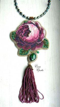DSCN3628 Beaded Embroidery, Hand Embroidery, Diy Jewelry Tutorials, Seed Bead Jewelry, Seed Beads, Thread Art, Handmade Beaded Jewelry, Art Nouveau Jewelry, Crochet Earrings