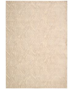 """kathy ireland Home Hollywood Shimmer Paradise Cove Bisque 5'3\"""" x 7'5\"""" Area Rug"""