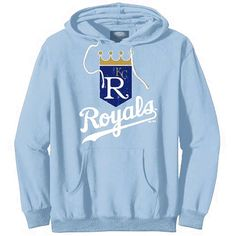 Majestic Threads Kansas City Royals Cooperstown Collection Tri-Blend Pullover Hoodie - Light Blue - $55.99