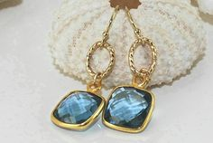 Bridesmaid JewelryGold Dangle EarringsMother's by ornatetreasures, $58.00