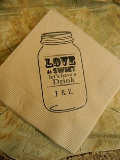 Rustic Light Burlap Love is Sweet Let's Have a by CharlestonCharms, $15.00