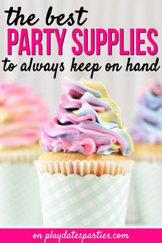 Get prepared for any party with this list of my favorite party supplies. These are the products I use over and over again. Homemade Party Decorations, Birthday Party Decorations, Birthday Parties, Party Kit, Party Ideas, Birthday Organizer, Party Planning Checklist, Craft Party, Party Printables