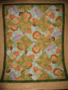 animal embroidery quilt pictures   Quilting Ideas   Project on Craftsy: Jungle Baby Animals