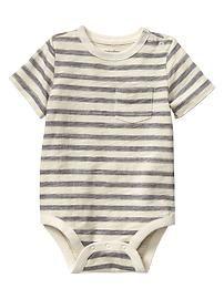 Striped pocket bodysuit- GAP