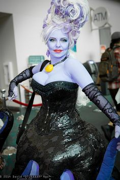 """I think this is the one character that should be painted. We should look into airbrushing her purple... Ursula - San Diego Comic-Con 2014 """"Well, it's time Ursula took matters into her own tentacles."""" Cosplayer: Petite Leon"""
