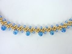 FREE beading pattern for St. Petersburg chain with alternating fringe beads  ~ Seed Bead Tutorials