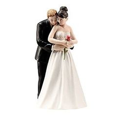 Haha, find this interesting toys for wedding: Deep Love Wedding Cake Topper Bridal Couple Figurine 5.4""