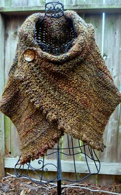 This pattern is written for the wrap pictured here, however, you can use a light weight yarn or bulky yarn using the appropriate hook for the