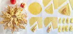 Chuťovka z lístkového cesta pripravená za pár minút (Fotonávod) Cookie Recipes, Snack Recipes, Healthy Recipes, Snacks, Puff And Pie, Pie Brownies, Bread Shaping, Bread Bun, Russian Recipes