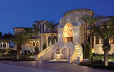 Traditional Mediterranean Palace-style Home | Front Elevations | LUXE Source