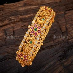 Shop From An Exclusive Collection Of Designer Bangles, Kadas & Bracelets For Women Online. Buy Silver & Bridal Bangles at Kushal's Fashion Jewellery. Buy Now. Hand Jewelry, Beaded Jewelry, Silver Jewelry, Gold Jewellery, Antique Jewellery, Bridal Bangles, Gold Plated Bangles, Bracelet Designs, Sterling Silver Rings