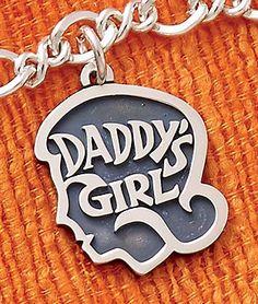 "Summer Collection - ""Daddy's Girl"" Charm shown on Medium Twist Chain #JamesAvery"