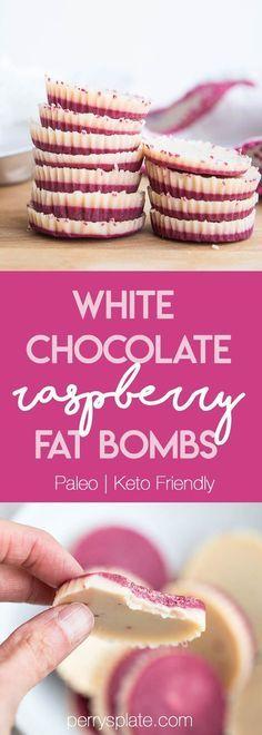 White Chocolate Raspberry Fat Bombs | The Everyday Ketogenic Kitchen | keto recipes | paleo recipes | dairy-free recipes | sugar free recipes | low carb recipes