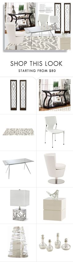 """""""Decorative Silver"""" by ildiko-olsa ❤ liked on Polyvore featuring interior, interiors, interior design, home, home decor, interior decorating, Furniture of America, Somerset Bay, Eurø Style and Clayton"""