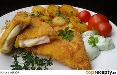 Smažený uzený plátkový sýr se šunkou Czech Recipes, 20 Min, Junk Food, Japanese Food, Chicken, Foods, Kitchens, Food Food, Food Items