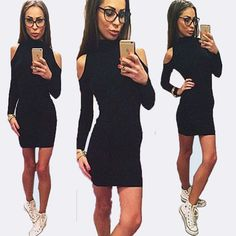 WOMEN AUTUMN STYLE BLACK TIE ROMPERS JUMPSUIT BODYCON LONG SLEEVE SEXY CLUBWEAR ONE PIECE BODYSUITS PLAYSUIT