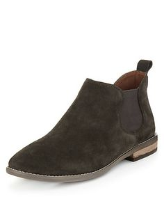 Navy Suede Chelsea Boots with Insolia Flex® Clothing