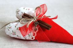 Cinnamon+heart+ornament++romantic+red+hearts+by+MiracleInspiration,+$9.50