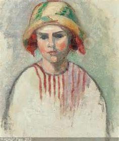 MANGUIN Henri Charles - Portrait von Lucile Manguin. Gegen 1912. Verso ...