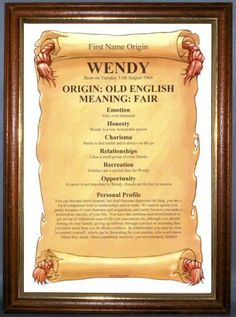 The significance of Wendy