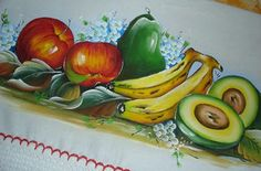 Fruit Picture, Food Coloring, Fabric Painting, Watermelon, Embroidery, Flowers, Google, Paint For Kitchen, How To Make Paint