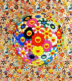 "siyahalbatros: ""Flower Ball -Takashi Murakami- Date: 2002 Style: Neo-Pop Art, Superflat "" Superflat, Murakami Artist, Takashi Murakami Art, Art Pop, Psychedelic Art, Andy Warhol, Murakami Flower, Beautiful Flower Drawings, Pop Art Artists"