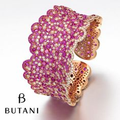 Happy New Year! Welcome 2016 with our Butani Diamond and Pink Sapphire Cuff #Butani #ButaniJewellery #Cuff #Bracelet #Diamonds #Sapphires #Luxury #FineJewellery #HighJewellery #NewYear #2016