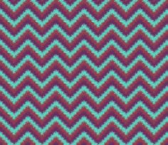 AW 4 Bargello Print in turquoise, maroon and purple, small scale fabric by maryyx on Spoonflower - custom fabric