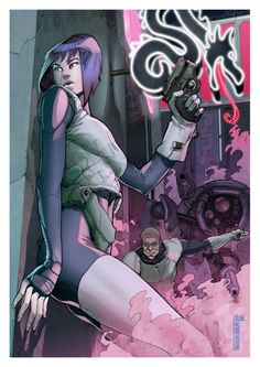 GITS tribute. pencil and colors by me