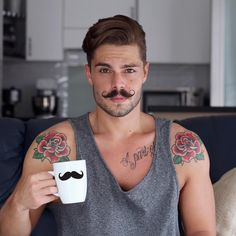 「 Moustaches everywhere !! #Goodnight my friends !! #chillin Check @soboys !! 」