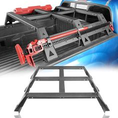 Get off on Roof Cargo Rack Luggage Carrier,Bed Rack for Toyota Tacoma Toyota Tacoma, Toyota 4runner, Tacoma Bed Rack, Pickup Camping, Bike Storage Apartment, Truck Bike Rack, Tacoma Truck, Double Glass Doors, Truck Accessories