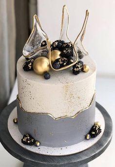 Unique Cakes, Elegant Cakes, Creative Cakes, Modern Cakes, Beautiful Cake Designs, Beautiful Cakes, Amazing Cakes, Best Cake Designs, Elegant Birthday Cakes