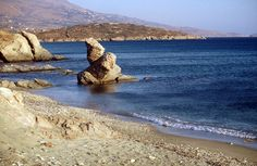 The Liopesi beach in Andros Island, a calm and beautiful beach.
