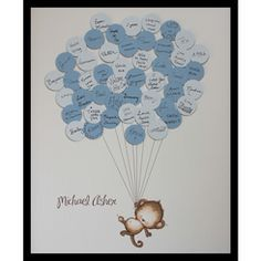 Baby Shower Guest Book Print Monkey