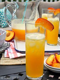 Easy 2 INGREDIENT Peach Lemonade. Perfect refreshing summer beverage. - The Cookie Rookie