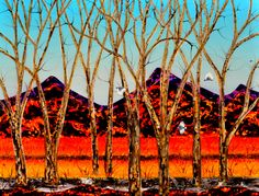 Artwork by Peter Coad at Wentworth Galleries, Sydney. Famous for his striking depictions of the Australian landscape. Full Moon Rising, Moon Rise, Summer Landscape, Australian Artists, Blue Mountain, Byron Bay, Earth, Sky, Gallery