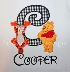 Winnie the Pooh & Tigger too  Letter or by Presleeschicboutique