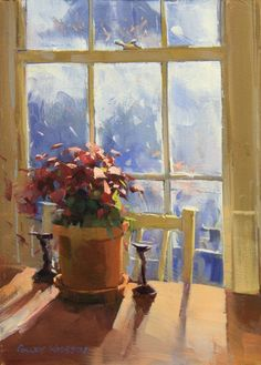 Winter Light in Atlanta by Colley Whisson • 10x7, oil