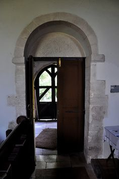 Coln Rogers St Andrew-121 South door //.bwthornton. & Great Rissington St John The Baptist-043 West crossing arch two ...