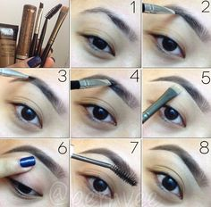 brow pictorial using makeup forever aqua brow in shade 25