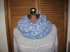 Pinks and blues pastels cowl infinity scarf on Etsy, $25.00