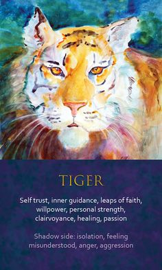 Discover recipes, home ideas, style inspiration and other ideas to try. Tiger Spirit Animal, Spirit Animal Totem, Animal Spirit Guides, Animal Totems, Whats Your Spirit Animal, Animal Meanings, Animal Symbolism, Animal Medicine, Mudras