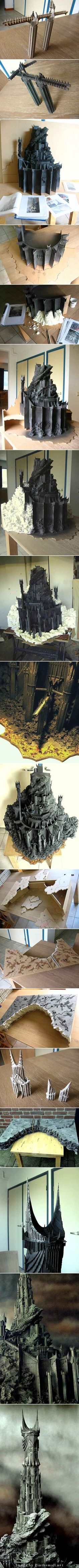 The One Ring • View topic - The Making of Barad-dûr (Update Nov 21st) - created via http://pinthemall.net