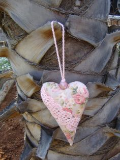 hanging heart pillow by Beyondbusy on Etsy, $10.00
