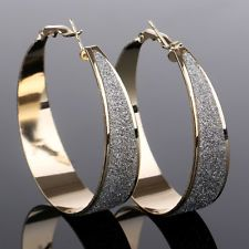 Fashion Women's Lady Rhinestone Crystal Hoop Round Big Earrings Ear Stud Jewelry