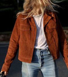 suede jacket & jeans △ @bibijoux