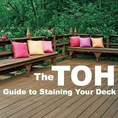 REFRESH YOUR DECK. Without renewed protection against Mother Nature, wood will start to decay. | Shown: Clear toner is great for new, high-end redwood or cedar decking, but on weatherbeaten or inexpensive decking, like this pressure-treated pine, semitransparent stain is the ticket to an upscale look. Flood TWF-Semi in Dusty Trail; flood.com